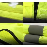 High Visibility Blue Green Yellow Custom Logo Mesh Jackets Multi Pockets Reflective Safety Vest for thumbnail image