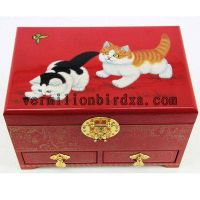 wooden jewelry box,elegant and gorgeous style.wedding gift/gift for her-cat