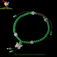 sand and stone jewelry adjustable bracelet Energy Healing Bangle natural jade anklet for women