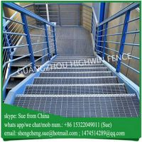 Hot dip galvanized steel grating for step