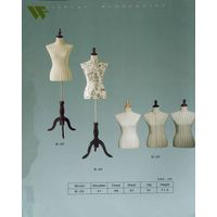 Beautiful fabric covered female tailoring mannequin with no hands