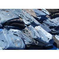 Container of used jeans. Ready to ship worldwide thumbnail image