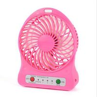 2016 Hot  Sale Portable Rechargeable USB port Mini  Cooling Fan with LED Light
