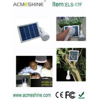 ELS-17F Best Super Bright Indoor Small Solar Led Light with Solar Panel
