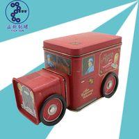 custom car shape packaging tin,bell shape tin holder,cartoon tin case