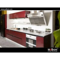 2015 Welbom Newest Champagne Lacquer Modern Kitchen Cabinets