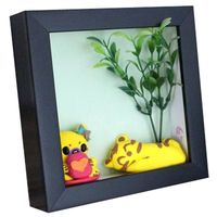 12x12 3d deep wooden shadow box frame photo picture frame