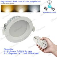 Chrome brushed color 12W LED downlight Dimmable