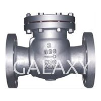 Swing check valve, reliable sealing