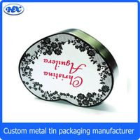 Hearted shape elegent jewelry packaging metal box/display tin box thumbnail image