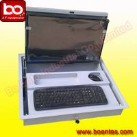 Computer Screen Rotatable Security Box for Computer Desk