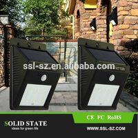 Solar Powered LED PIR Motion Sensor Light Wall Lamp Outdoor Solar Garden Light