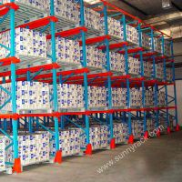 heavy duty warehouse storage drive in pallet rack