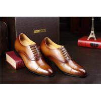 Make men look taller 2.76 inche brown wedding shoes