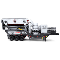 Tire type mobile crushing station Industrial crawler type mobile crusher  Tracked mobile crusher