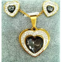 Rhinestone necklace set