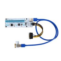 NTH PCIE Riser 007C PCI-E x1 to x16 Express Riser Card for GPU Mining with USB3.0 Cable Extension US