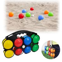 plastic boules with water 6 balls set and 8 balls set with easy carry case