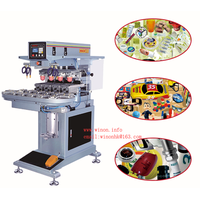 winon supply four color printing machine ink type pad printer semi-auto printing machine