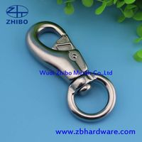 AISI 316 And 304 Stainless Steel Polished Surface Metal Snap Hook