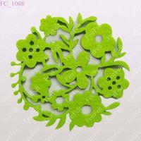 Wool felt cup mat/ felt cup pad in die cut/ Wool felt coaster/ wollfilz tischsets/ filz tischsets/ S