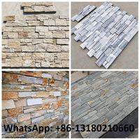 Natural Rusty Quartz Exterior Wall Cladding Slate Ledge Stone Rock Wall Pattern Cultured Stone thumbnail image
