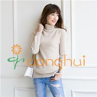 100% merino wool turtleneck cable-knit sweaters for women thumbnail image