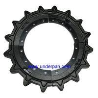 Morooka transport dumper rubber track undercarriage idler assy MST 2200 front idler thumbnail image