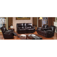 D8207 Reclining sofa Top Leather, Living Room Sofa, Manual Sofa, Sectional Recliner Sofa, Fabric Sof