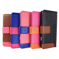 Wholesale for iphone 6s plus, color constrast leather phone case for iphone 6s plus