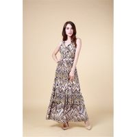 BY572 100% Viscose Fashion Womens Casual Printed Dresses
