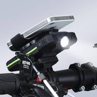 shenahen meilan X2 USB rechargeable bike power bank with light mobile phone mount holder