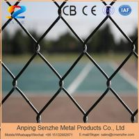 hot dipped galvanzied or pvc coated chain link fence
