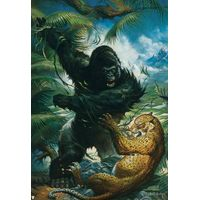leopard kingkong oil painting