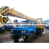 used XCMG truck crane QY8D 8tons crane, made in China,in very good working condition,No accident/rep