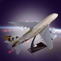 Model Resin crafts Airbus 380 Etihad Airways Plane Model Engine Blade Hollow Des