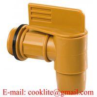 "2"" BSP Thread Polyethylene Drum Faucet Gold Barrel Tap Plastic Spigot thumbnail image"