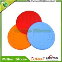 Colorful frisbee, high quality elastic silicone frisbee manufacturer