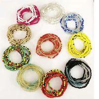 Girl colorful body navel chain elastic African waist bead beach bikini waist chain thumbnail image