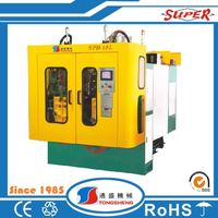 Small HDPE Plastic Bottle blowing making molding Machine with Double Station price