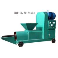 Rice Straw Briquette Press Machine making briquette by screw extruding thumbnail image
