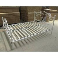 metal frame wooden slat metal bed for europe and usa market