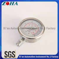 All Stainless Steel Hydraulic Pressure Indicators Pressure Gauges 4""