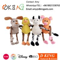 Long legged stuffed dog pet toys