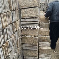 YIJUN STONE/ Tiger skin color Natural slate Mushroom stone/ wall stone