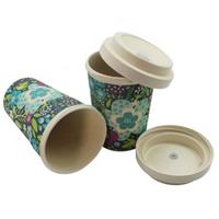 100% natural biodegradable custom eco friendly keep takeaway wholesale bamboo fiber reusable coffee thumbnail image