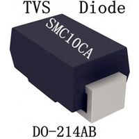 1500W 5-188V Do-214AB TVS Chip Rectifier Diode SMC10A/CA Free Samples