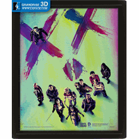 Suicide Squad movie Poster 3D Depth Lenticular Printing Effect