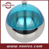 Modern Round 18/8 (Grade 304) Stainless Steel Ice Bucket,Storage Container,Ice Bowl with Lid, 1.0L