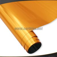 Orange Stretch Chrome Car Film for Car Body Decoration 1.52*20m